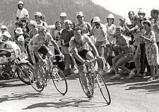 Bernard Hinault and Greg Lemond Race Action BW POSTER