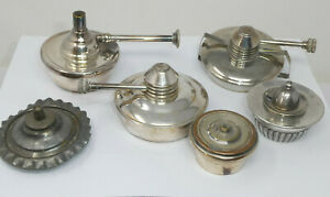 Lot of 6x Vintage Spirit Burners inc. Silver Plated