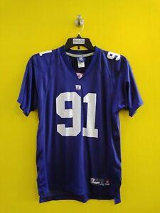 🏈NEW YORK GIANTS #91 JUSTIN TUCK REEBOK NFL FOOTBALL JERSEY BOYS- XL