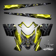 Polaris IQ RMK Shift Dragon Graphics Decal Wrap 05-12 W/ Tunnel Guardian Yellow