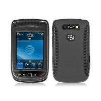 Black Hybrid with Black TPU Inner Case Cover for Blackberry Torch 9800/9810
