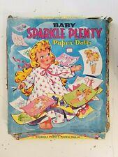 Vintage 1948 Saalfield Baby Sparkle Plenty Paper Dolls Cut-Outs No.5160 Pre-Cut