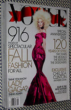VOGUE Magazine, LADY GAGA, SEPTEMBER ISSUE, TONS OF FASHION, ANNIVERSARY ISSUE