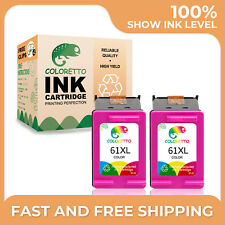 2PK 61XL 61 XL Color Ink Cartridges For HP DeskJet 2050