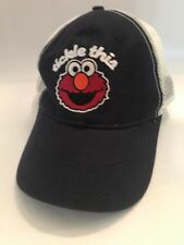 Tickle This Hat Elmo Sesame Street Trucker Hat Black Adjustable