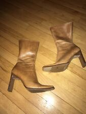 Steve Madden Joesie Natural Leather Boots Size 9