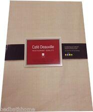 Sand Beige Vinyl Tablecloth - Café Deauville Vinyl Tablecloth Beige Flannel Back