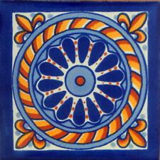 100 Mexican Talavera Decorative Handmade Tiles Folk Art C153