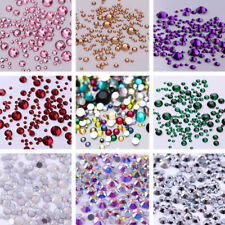 Colorful Resin Nail Rhinestones Glitter Flat Bottom Mix Size Nail Art Decoration