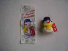 Die lustigen Kugelkopf-Schneemänner / Schlittenfahrer + 1 BPZ von 1999