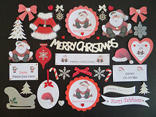 CHRISTMAS CARD MAKING EMBELLISHMENTS & TOPPERS *36 ITEMS* CHRISTMAS SCRAPBOOKING