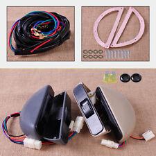 Gray 3 Rocker Switch Kit Power Window Lock 12V for Car Front 2 Door Universal