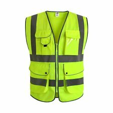 Jksafety 9 Pockets Class 2 High Visibility Zipper Front Safety Vest Xx Large