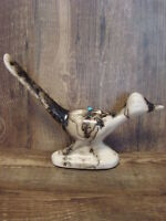 Native American Pottery Roadrunner Sculpture by Vail! Navajo Pot
