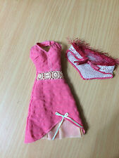 Barbie Doll My Scene Chelsea Outfit Cloth Halter Dress Crochet Accent Fuzz Shawl