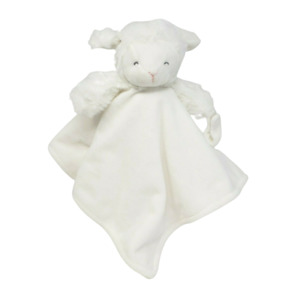 CARTER'S 2016 WHITE BABY LAMB SECURITY BLANKET PACIFIER HOLDER STUFFED PLUSH