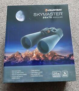 New celestron skymaster binoculars 25 x 70 tripod adapter astronomical...