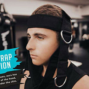 Neck Weightlifting Strap Head Training Fitness Weight Muscle Strength Exercisedh