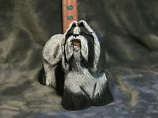 SHIH TZU PLASTER DOG STATUE HAND CAST & PAINTED BY T.C. SCHOCH
