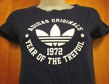 ADIDAS ORIGINALS tee XS throwback Year of the Trefoil T shirt retro 1972 logo