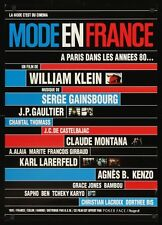 MODE IN EN FRANCE Japanese B2 movie poster 1985 SERGE GAINSBOURG WILLIAM KLEIN