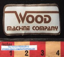 Vtg Thin Advertising Patch ~ WOOD MACHINE COMPANY Shop Tulsa OK 62K6