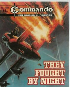 THEY FOUGHT BY NIGHT,COMMANDO WAR STORIES IN PICTURES,NO.1585,WAR COMIC,1982