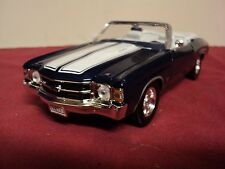 Welly 1971 Chevrolet Chevelle SS 454 Convertible  new no box 1/24 scale blue