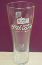 Sharps Brewery Cornish Pilsner tall pint glass Cornwall