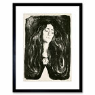 Painting Woman Painting Edvard Munch The Brooch Framed Art Print 9x7 Inch