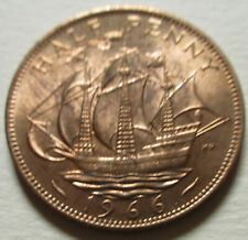 1966 P Great Britain Half Penny Coin. RED UNC. (W214)