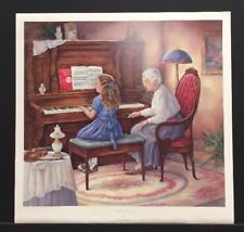 "Paula Vaughan Limited Edition Signed Print ""Piano Lesson"" w/COA"