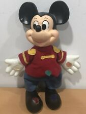 Vintage 1970s Walt Disney Productions KTC Vinyl Cloth Mickey Mouse Horn Doll 13""