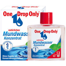 """ One Drop Only "" natural Mouthwash Concentrate 50 ml  New from Germany"