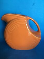 Homer Laughlin Fiesta Tangerine Large Disk Pitcher
