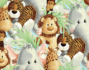 Jungle Babies Allover 43 Inches wide 100% All Cotton Print Fabric