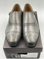 BANANA REPUBLIC Grey Leather Monk Strap Casual Dress Shoes Men's Size 8.5 EUC!