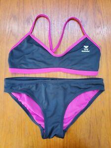 TYR Durafast Women's Sport Bikini Swimsuit 2 Piece Medium / Criss Cross Back