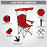 2020 Premium Portable Camping Folding Lawn Chair with Canopy Sunshade Fishing
