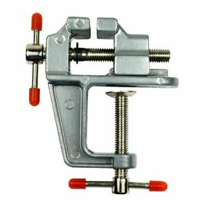 """3.5"""" Miniature Vise Small Jewelers Hobby Clamp On Table Bench Tool Vice Aluminum"""