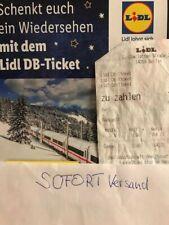 DB Ticket Lidl 5min-2h!! SOFORT Freifahrt Bahn ICE BERLIN Versand per Mail!