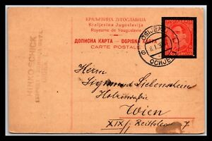 GP GOLDPATH: YUGOSLAVIA POSTAL CARD 1936 _CV585_P11