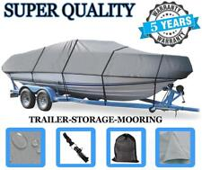 GREY BOAT COVER FOR BAYLINER CAPRI 1950 CX BOWRIDER I/O 83