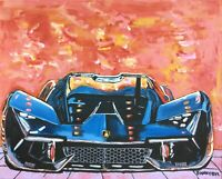 Lamborghini Original Art Painting DAN BYL Modern Contemporary Exotic Car 4x5 ft