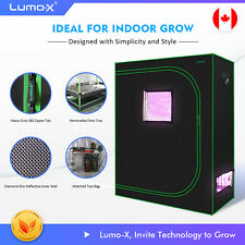 "Plant Grow Tent 48""x24""x60"" 600D High-Reflective Hydroponics Indoor Lumo-X"