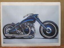 Vintage David Mann Motorcycle Poster E1