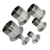 "1/2"" to 2"" Sanitary Male Threaded Ferrule Pipe Fits Tri Clamp Steel SUS316 NPT"