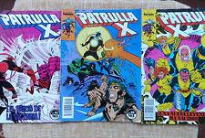 Comics, La Patrulla X, nº 92, 94 y 99, Forum, Marvel, Chris Claremont, 1990