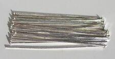 200 Nietenstifte, 45 mm x 0,8 mm, 2,3 mm Kopf, silberfarben Prismenstifte