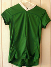 PERFORMANCE~Green CYCLING SHIRT JERSEY~Back Pockets~Womens Small